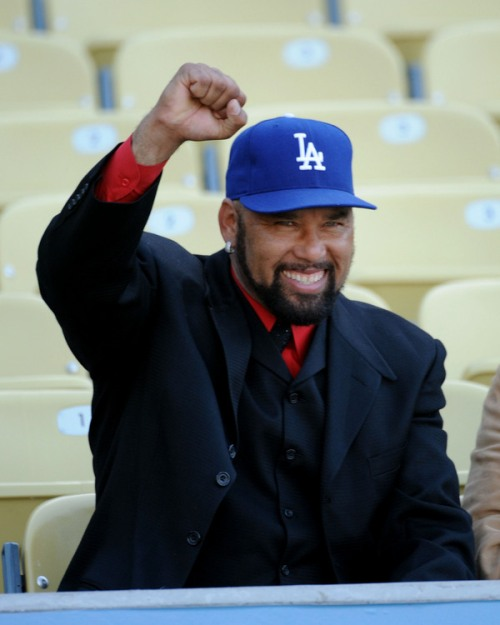 Jose Lima died today, May 23, 2010, of an apparent heart attack.  Here he is at the May 21, 2010, Dodgers game against the Tigers. It was his first appearance at Dodger Stadium in years.