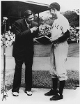 George H.W. Bush received an award from Babe Ruth while playing for Yale.